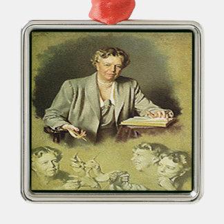 アナエレノア・ルーズベルト最初女性 メタルオーナメント