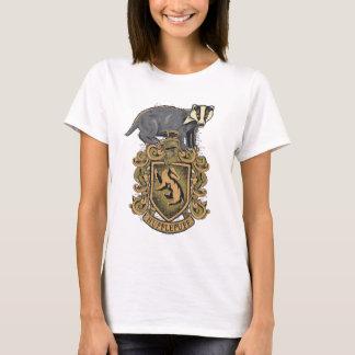 アナグマが付いているハリー・ポッターシリーズ| Hufflepuffの頂上 Tシャツ
