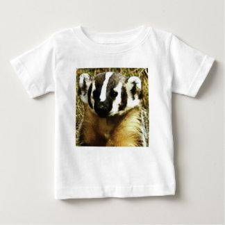 アナグマのストライブ柄 ベビーTシャツ