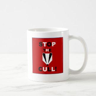 アナグマの傷ものをストップ コーヒーマグカップ