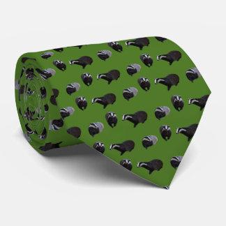 アナグマの逆上のタイ(中間の緑) ネックウェアー