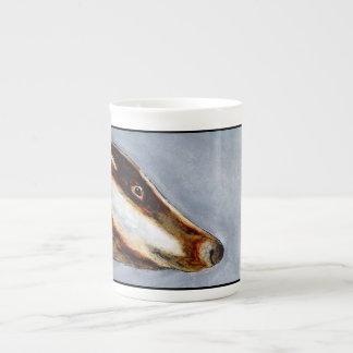 アナグマの骨灰磁器のマグ(a83) ボーンチャイナカップ