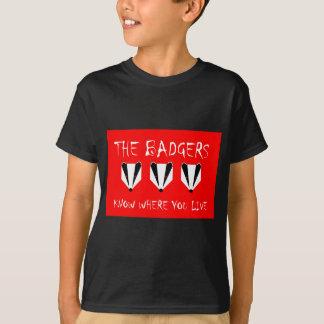 アナグマはどこに住んでいるか知っています Tシャツ