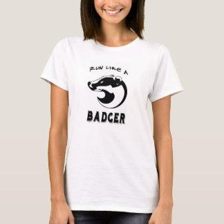 アナグマ-ロゴ1 Tシャツ
