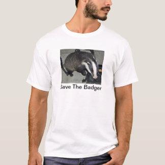 アナグマPicのTシャツを持つアナグマを救って下さい Tシャツ