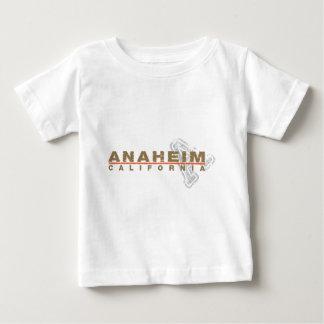 アナハイムは一見のデザインを刺繍しました ベビーTシャツ