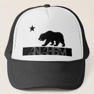アナハイムカリフォルニアの白黒の旗の帽子 キャップ