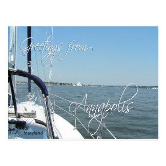アナポリスヨットのチェサピーク湾からの挨拶 ポストカード