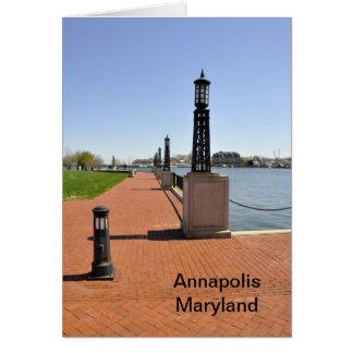 アナポリス、メリーランドの湾による煉瓦桟橋 カード