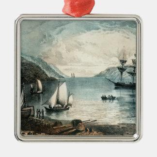 アナポリス、c.1880の湾 メタルオーナメント