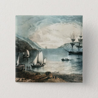 アナポリス、c.1880の湾 5.1cm 正方形バッジ