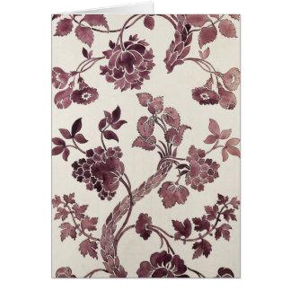 アナマリアGarthwaiteの花の水彩画のヴィンテージ カード