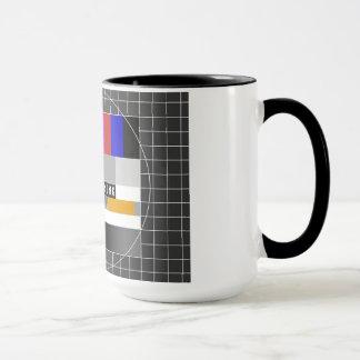 アナログのテストパターンのおはようのマグ マグカップ