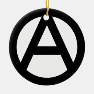 アナーキー anarchy  PUNK 無政府主義 パンク 陶器製丸型オーナメント