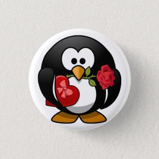 アニメのバレンタインデーのペンギン 3.2CM 丸型バッジ