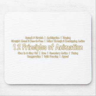 アニメーターのデザインのためのアニメーションの12の原則 マウスパッド