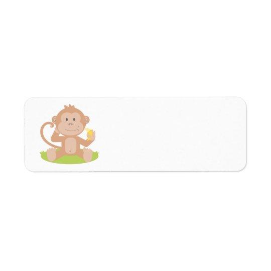 アニメ猿 返信用宛名ラベル