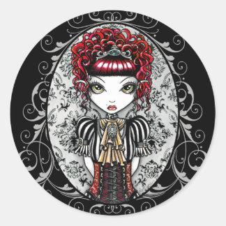 アニーのゴシック様式ビクトリアンな妖精のステッカー ラウンドシール