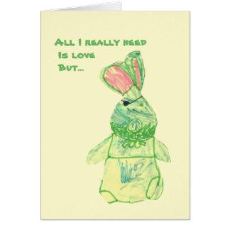 """アニータのバニー""""おもしろいな""""カード垂直すべてのサイズ カード"""