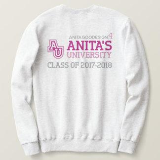 アニータの大学ロゴのスエットシャツ スウェットシャツ