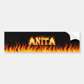 アニータの実質火および炎のバンパーステッカーは設計します バンパーステッカー