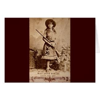 アニーOakleyのセピア色 グリーティングカード