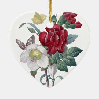 アネモネおよびカーネーションの花束 セラミックオーナメント