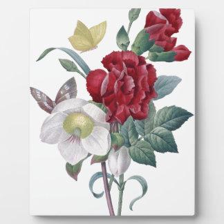 アネモネおよびカーネーションの花束 フォトプラーク