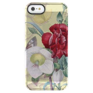 アネモネのカーネーションのバラ クリア iPhone SE/5/5sケース