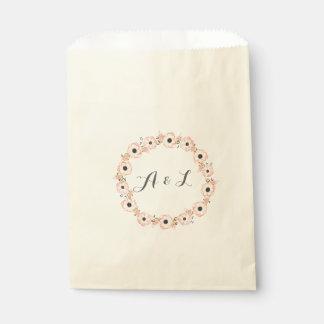 アネモネの水彩画のカスタマイズ可能なシャワーの好意のバッグ フェイバーバッグ