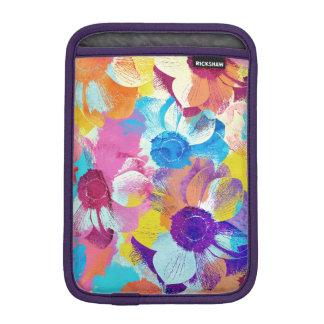 アネモネの花が付いているカラフルな花パターン iPad MINIスリーブ