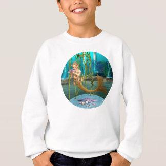 アネモネの花を持つ小さい人魚 スウェットシャツ