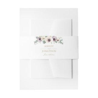 アネモネの花束の招待状用帯 招待状ベリーバンド