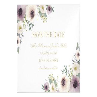 アネモネの花束の磁気保存日付 マグネットカード