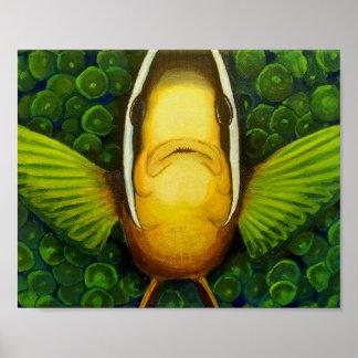 アネモネのClownfish ポスター