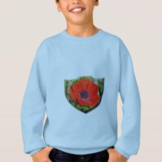 アネモネのCoronariaの赤い子供のスエットシャツ スウェットシャツ