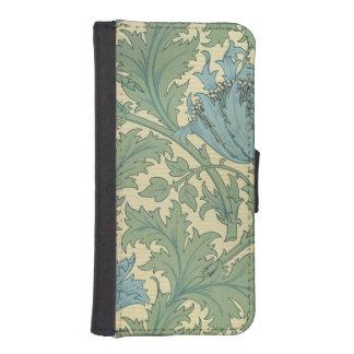 「アネモネ」のデザイン(織物) iPhoneSE/5/5sウォレットケース