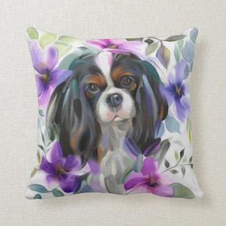 「アネモネ」三色の無頓着な犬の芸術の枕 クッション