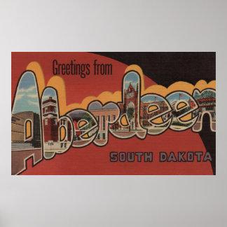 アバディーン、サウスダコタ-大きい手紙場面 ポスター