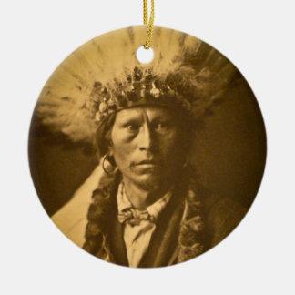 アパッシュのインディアンの酋長のガーフィールドJicarillaのヴィンテージ セラミックオーナメント