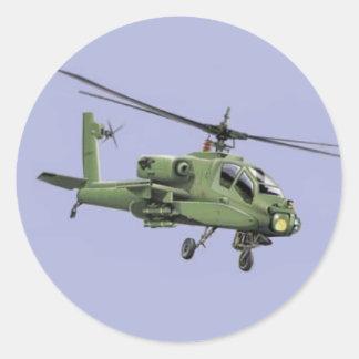 アパッシュのヘリコプターのステッカー ラウンドシール