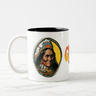 アパッシュのリーダーGeronimo ツートーンマグカップ