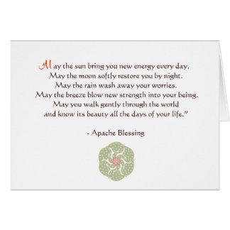 アパッシュの天恵の挨拶状 グリーティングカード
