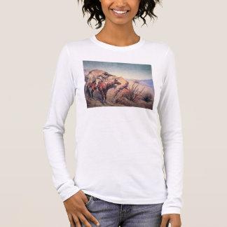 アパッシュの待伏せ(キャンバスの油) Tシャツ