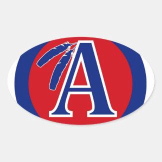 アパッシュの戦士の小学校プロダクト 楕円形シール