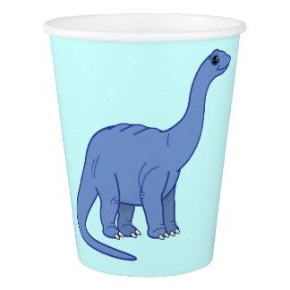 アパトサウルスまたはBrontosaurusの恐竜 紙コップ