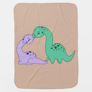 アパトサウルス愛-ベビーブランケット ベビー ブランケット