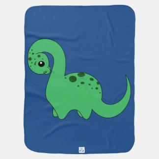 アパトサウルス-ベビーブランケット ベビー ブランケット