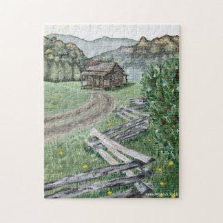 アパラチア山脈の小屋のパズル ジグソーパズル
