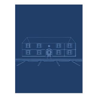 アパートの建物/家: 青写真 ポストカード